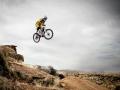 Mountainbike Sprung auf Extremsport-Welt