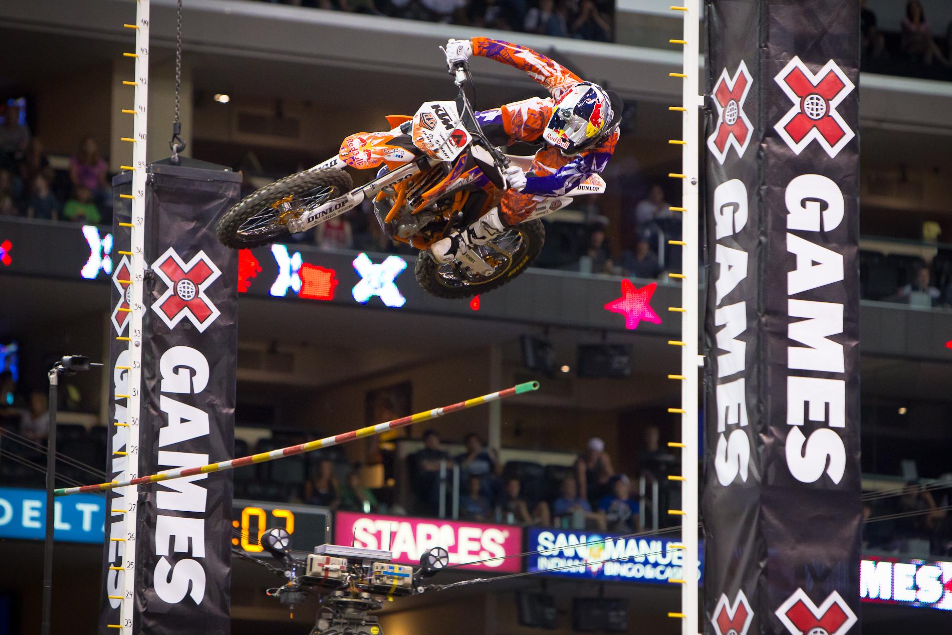 Motocross Stunt bei den xGames, dem größten der Extremsport Events
