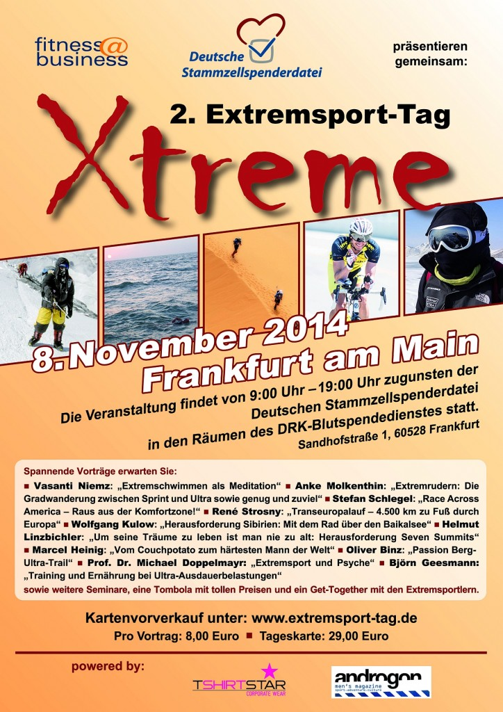 Plakat des 2. Extremsport Tags 2014 in Frankfurt