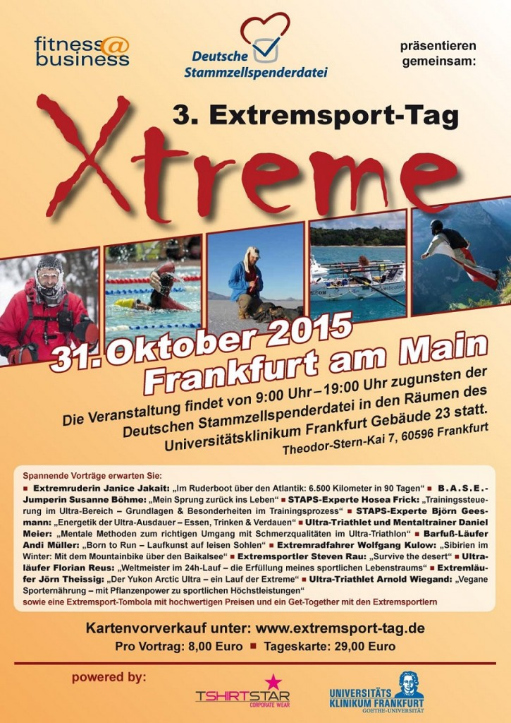 Extremsport-Tag 2015 Frankfurt Plakat